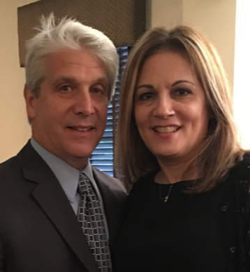 Temple hatikvah president Larry Lebowitz and wife Michele